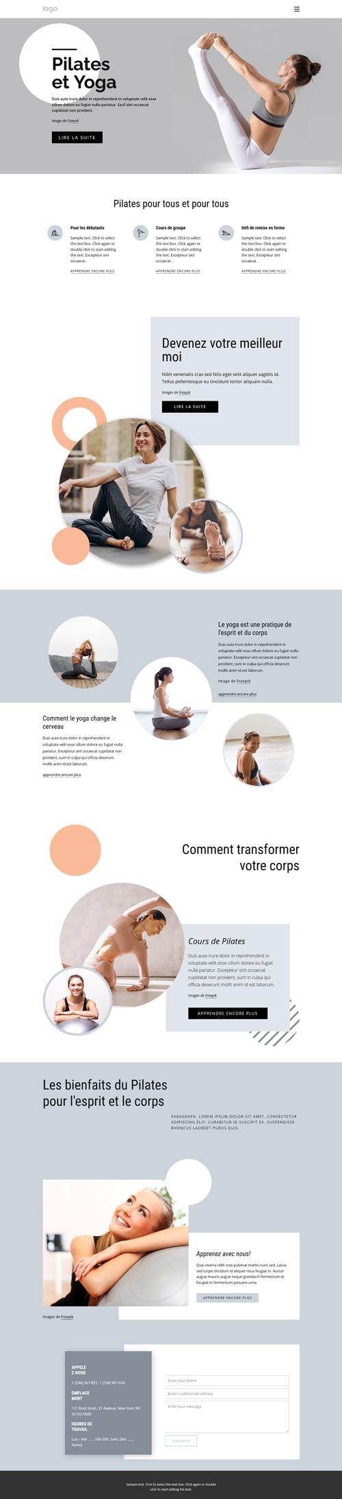 Exemple thème graphique sport yoga